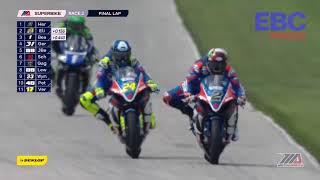 EBC Brakes Superbike Race Highlights at the Dunlop Championship at Road America