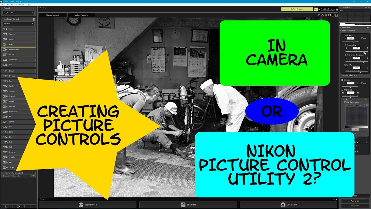 Creating nikon picture controls - is it easier in camera or using the  picture control utility 2 app?