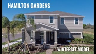 Hamilton Gardens Model Home Tour  Winter Garden FL Winterset model by Ryan Homes