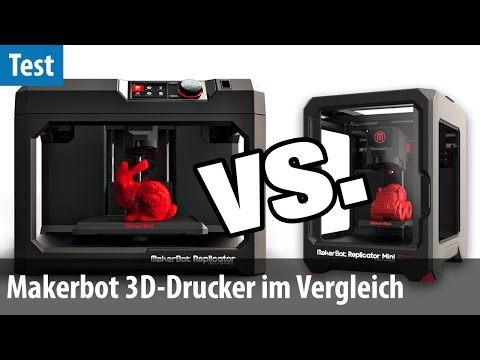 Makerbot Replicator vs. Replicator Mini - 3D-Drucker im Vergleichs- Test | deutsch / german