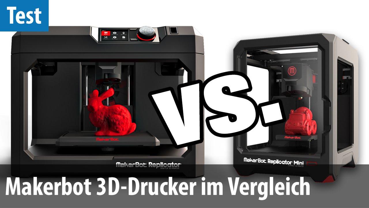 makerbot replicator vs replicator mini 3d drucker im vergleichs test deutsch german. Black Bedroom Furniture Sets. Home Design Ideas