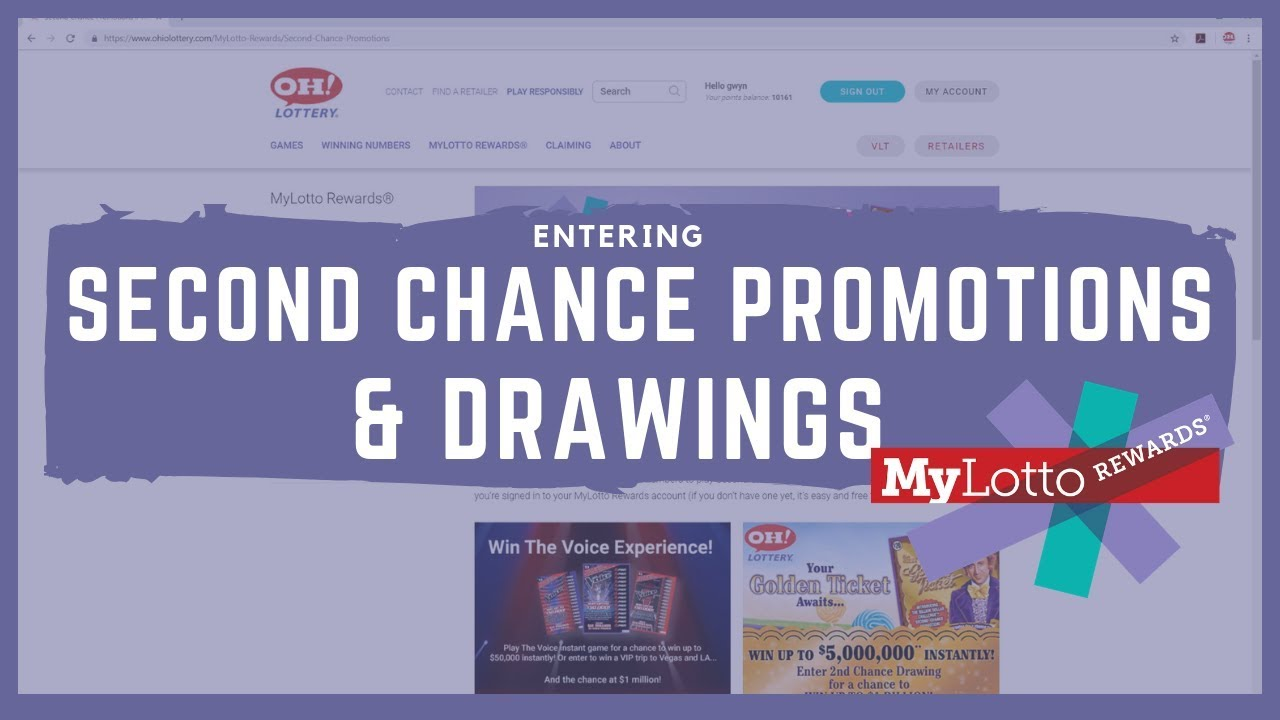Entering Drawings & Second Chance Promotions on MyLotto