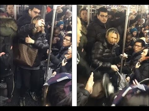 The Woody Show - Subway Rider Makes Citizen's Arrest on Violent Russian Chick