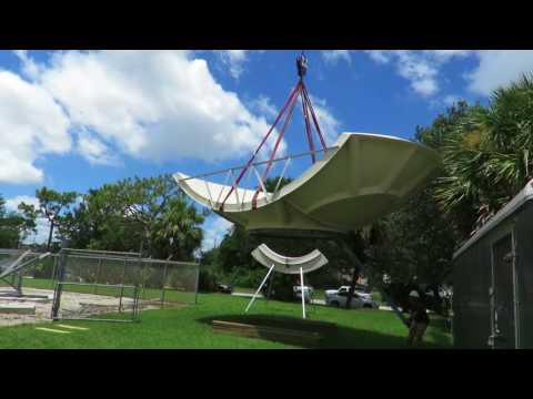 Used Satellite And VSAT Equipment - Take Down Of A 5M Simulsat Antenna