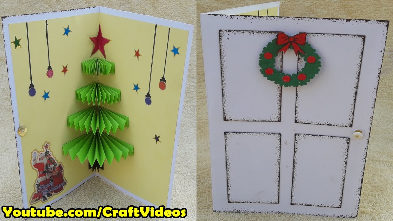 How To Make 3d Christmas Pop Up Card Christmas Cards For Kids