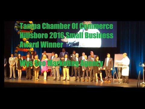 Tampa Chamber Of Commerce Hillsboro Small Business Award Winner| Wys Seo Marketing Agency