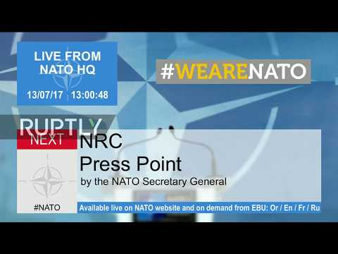 LIVE: NATO SecGen Stoltenberg speaks to press after NATO-Russia Council meeting