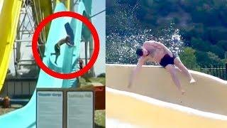 10 Epische Wasserrutschen Fails - Mit Kamera aufgenommen!