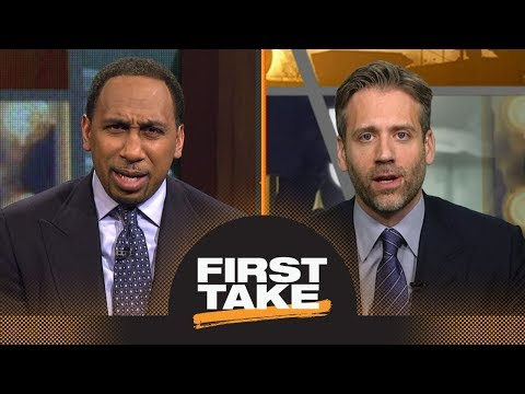 Stephen A. and Max have heated debate reacting to Case Keenum joining Broncos | First Take | ESPN