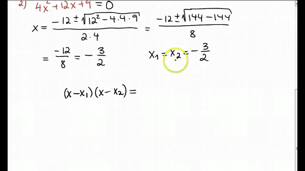 2 gradsligning formel