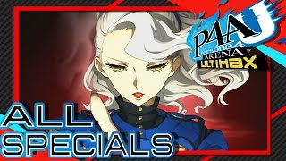 Persona 4 Arena Ultimax - All Characters Instant Kills and Super Moves (ALL DLC CHARACTERS)