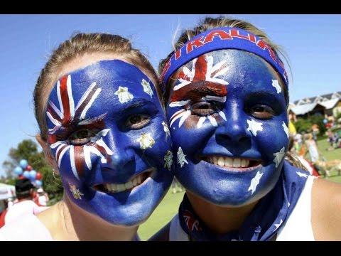 Flag Capes And Face Paint As Sydney Cele Tes Australia Day