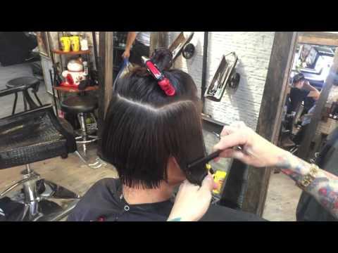 Hair bar tuấn còi : p1 dạy cắt đầu bob có chân gáy