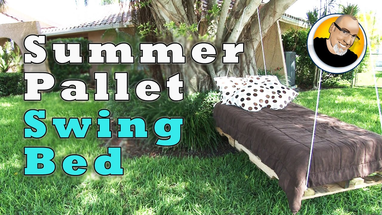 Summer Pallet Swing Bed Youtube