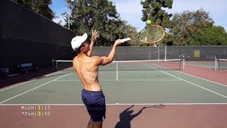 Tennis with Minh - NTRP 4.5 vs new 5.0 Highlights HD