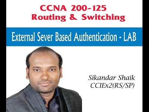 External sever based Authentication -LAB - Video By Sikandar Shaik || Dual CCIE (RS/SP) # 35012