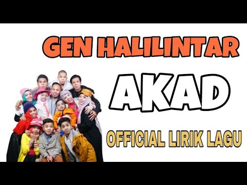 Payung Teduh - Akad (cover) by GEN HALILINTAR ( Lirik Lagu )
