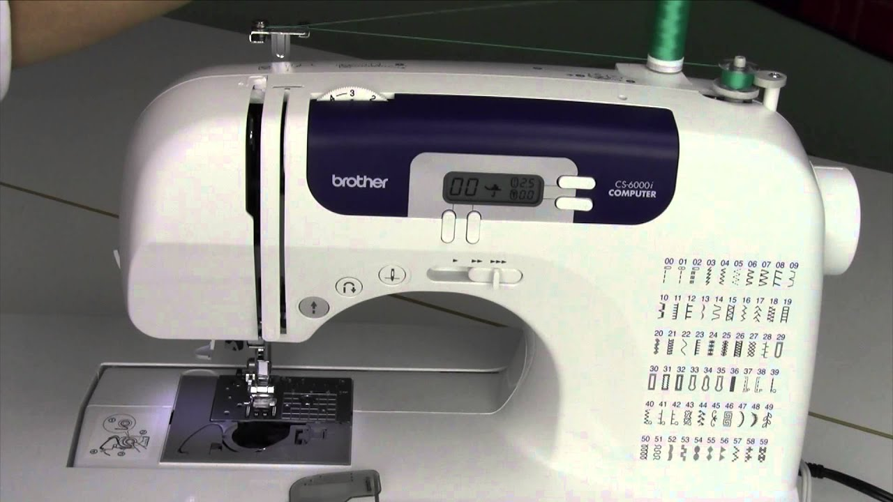 brother cs 6000i 5 threading winding a bobbin youtube. Black Bedroom Furniture Sets. Home Design Ideas
