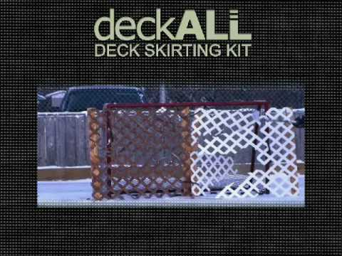 Deck All Deck Skirting Youtube