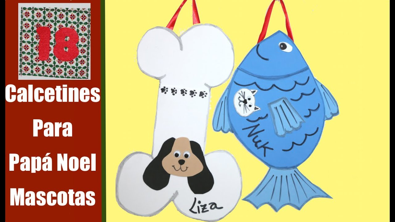 Calcetin de navidad para mascotas youtube - Calcetin de navidad ...