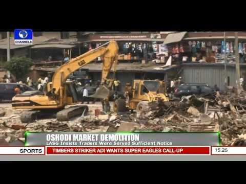 News Across Nigeria: Lagos Govt Defends Demolition Of Oshodi Market -- 08/01/16