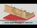 Acute Angle Bevel Jig For Table Saw