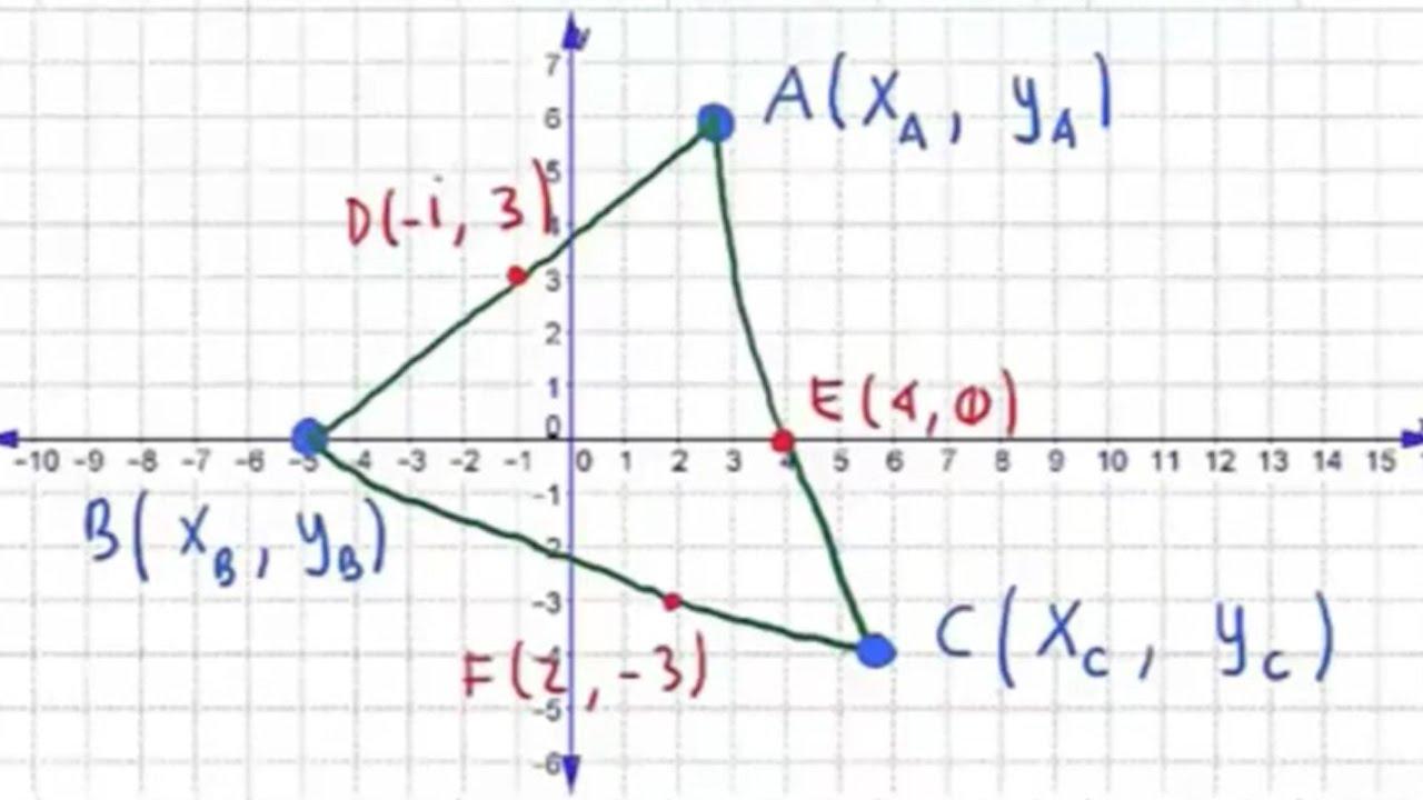 Vertices De Un Triangulo A Partir De Puntos Medios Youtube