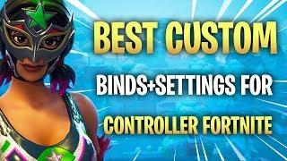 BEST CUSTOM CONTROLLER BINDINGS FOR FORTNITE! BEST FORTNITE SETTINGS! BEST SENSITIVITY!