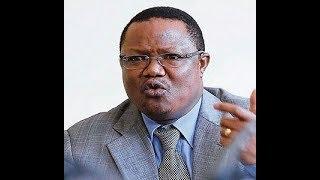 Tanzanian opposition MP, Tundu Lissu addresses media in Nairobi