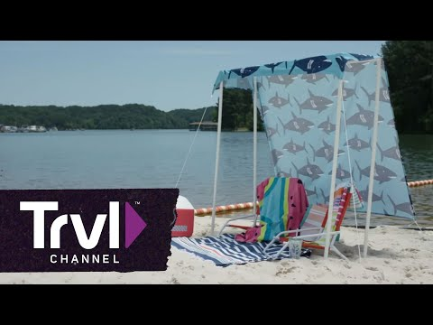 Throw Some Shade With This DIY Beach Tent - Travel Channel