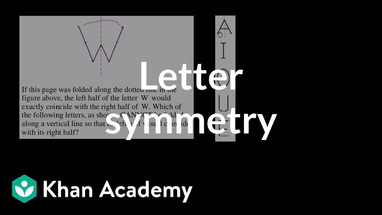 3 Letter symmetry