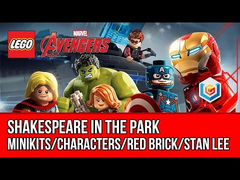 LEGO Marvel's Avengers Shakespeare in the Park Walkthrough (All Minikits, Red Brick, Stan Lee)