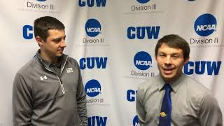 CUW Wrestling post-Match interview with head coach Kevin Koch
