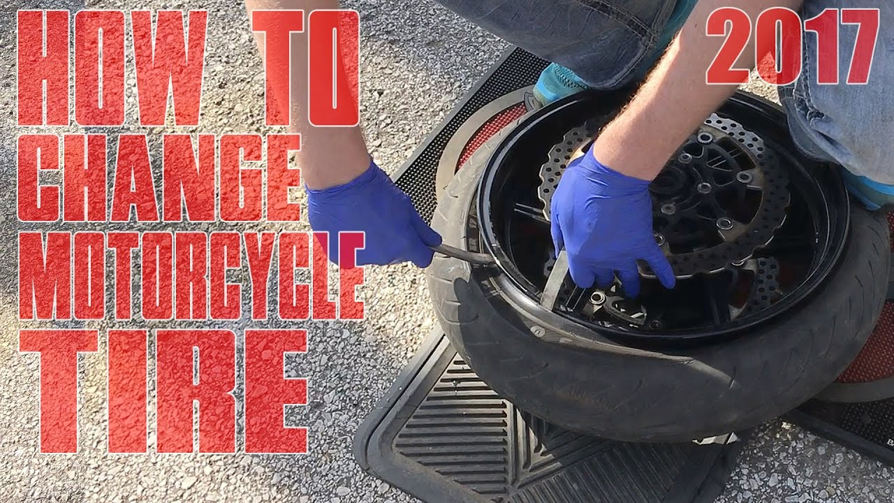 How To Change A Motorcycle Tire - YouTube