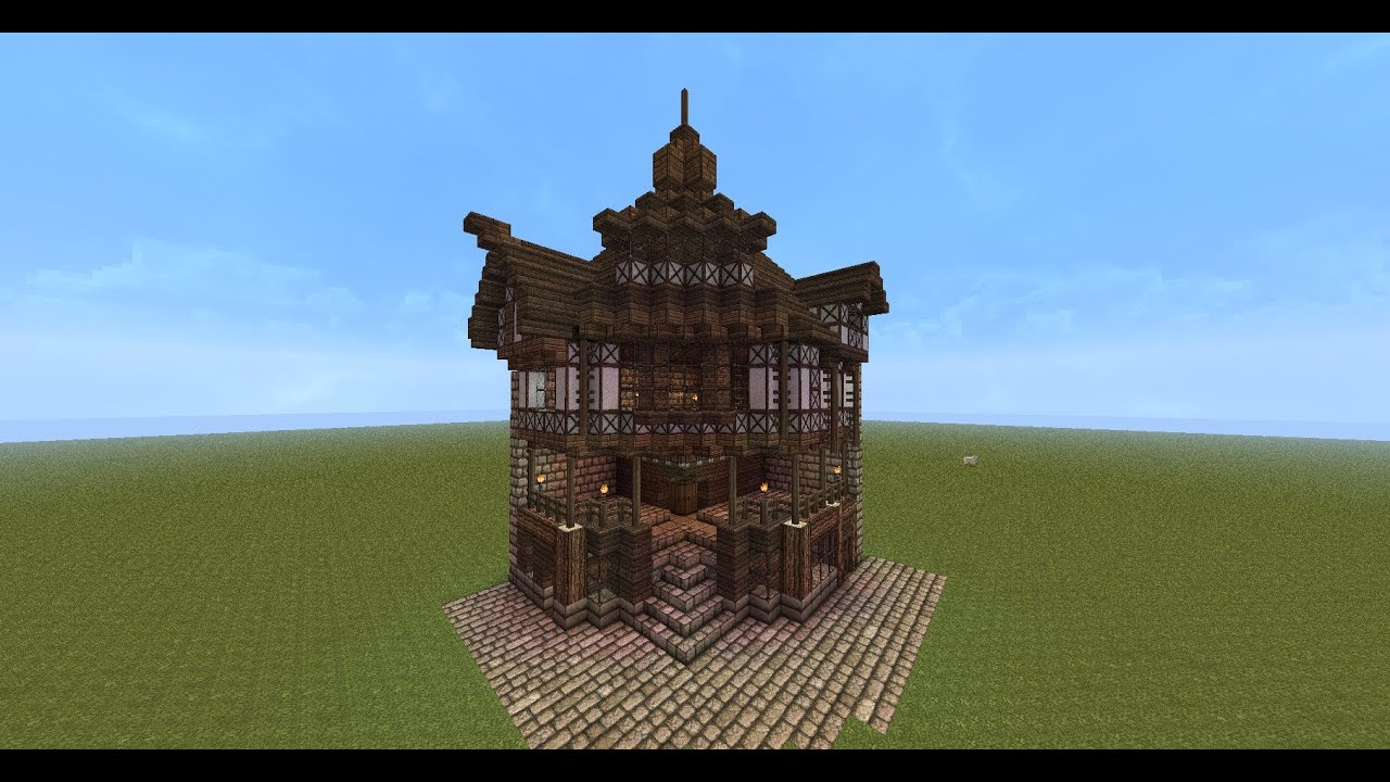 Minecraft old england style corner house tutorial youtube for Classic house tutorial