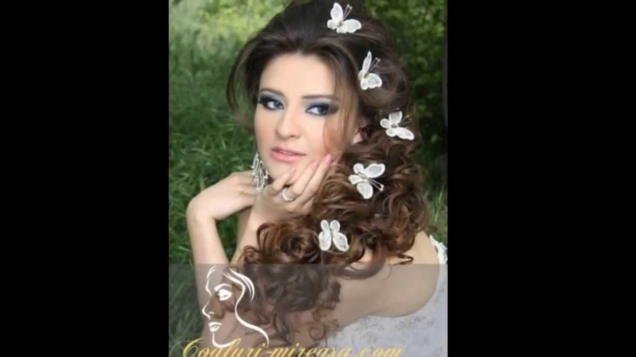 Coafuri De Mireasa Pentru Par Lung 2018 Coafuri Mireasacom Youtube