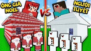 Rex Thử Thách Xây Nhà An Toàn Noel Và Tuyết | 1000 Ông Già Noel Đấu 1000 Người Tuyết Trong Minecraft