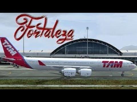 FSX - TAM A340 to Fortaleza