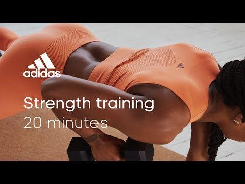 20 min Strength Training with Sharika Nelvis | adidas women workouts