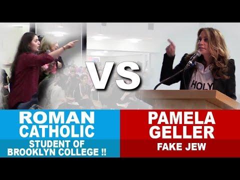 Pamela Geller Vs. Roman Catholic Student of Brooklyn College !!