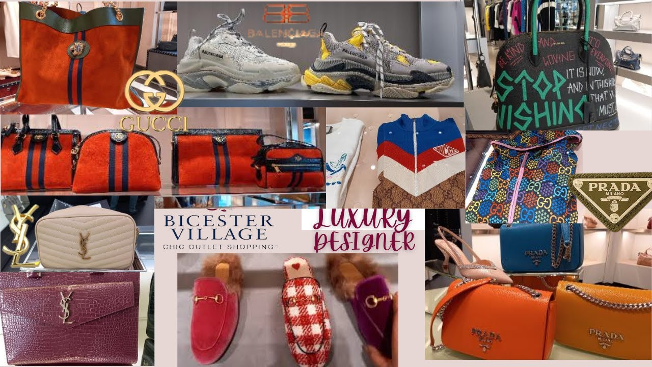 Luxury Designer Outlet/Gucci, YSL, Prada, Balenciaga \u0026 MiuMiu at Bicester Village/Shop with me
