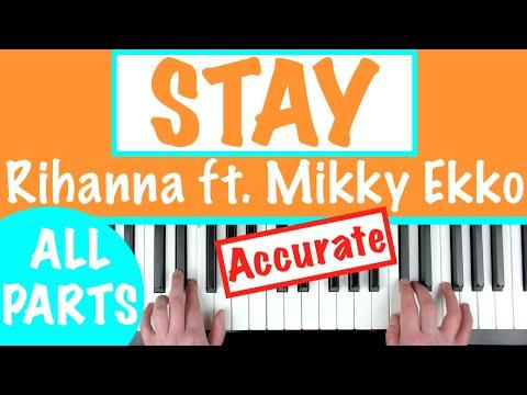"How to play ""STAY"" - Rihanna ft. Mikky Ekko | Piano Chords Tutorial"