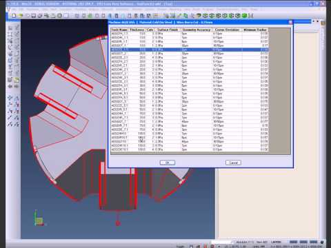 VISI PEPS-Wire - 4 Axis Wire EDM from Vero Software