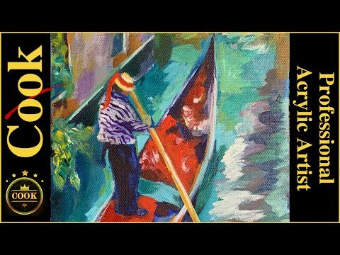The Gondola Colors of Venice Acrylic Painting with Ginger Cook