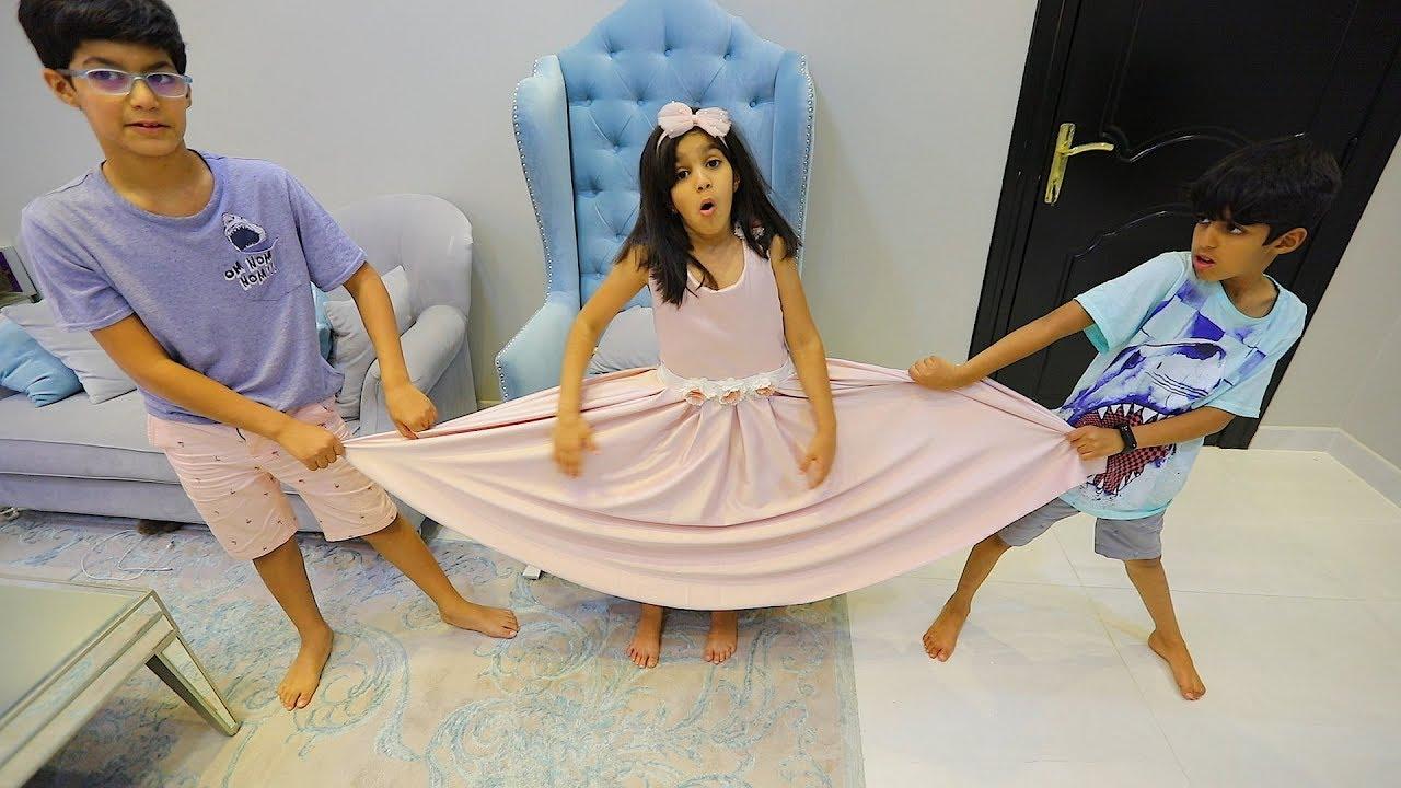 فستان لانا ونواف ونايف يخربون عليها Youtube