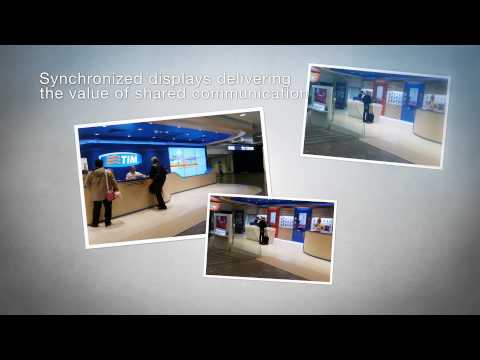 YCD digital signage at Telecom Italia flagship store