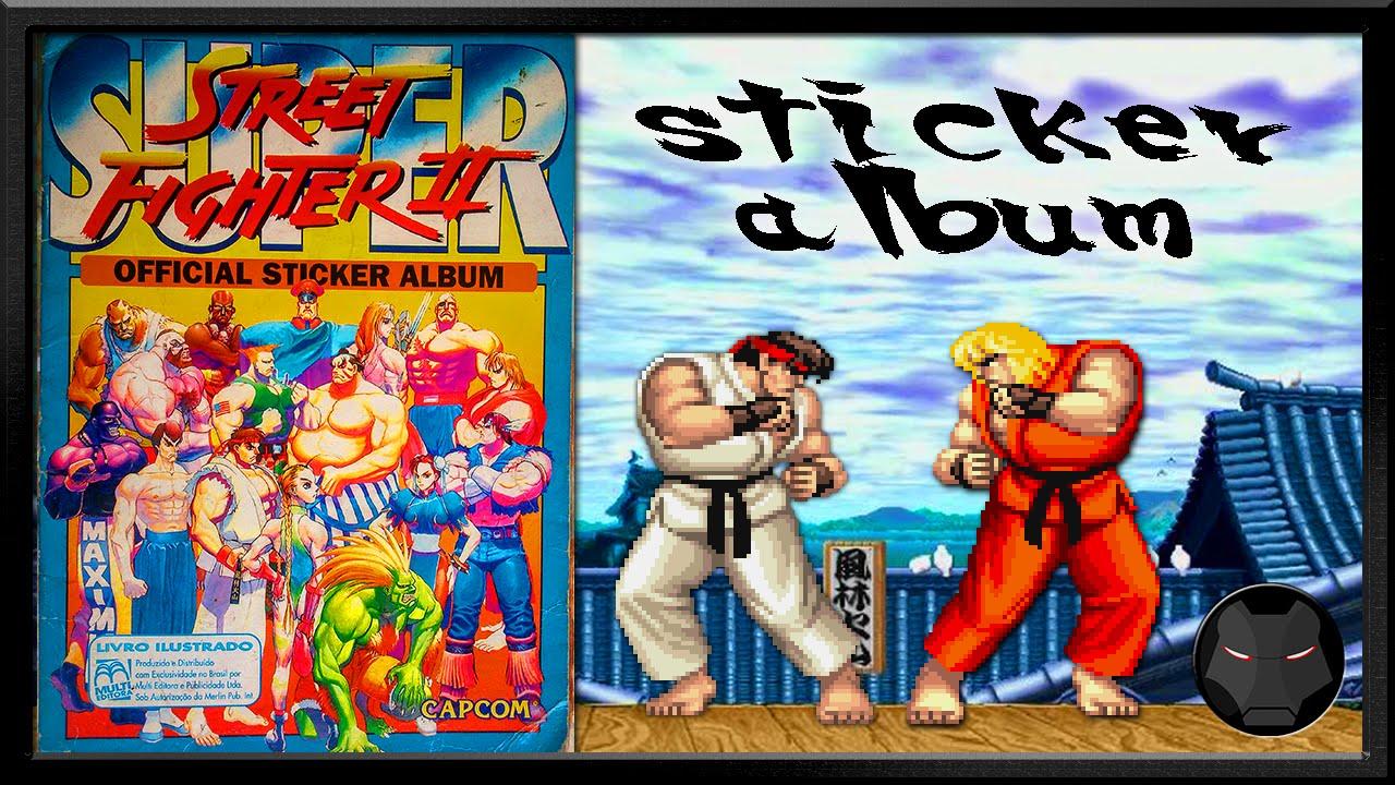 Street fighter ii stickers album