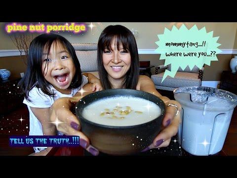 PINE NUT PORRIDGE • Mukbang & Recipe (잣죽JatJuk)