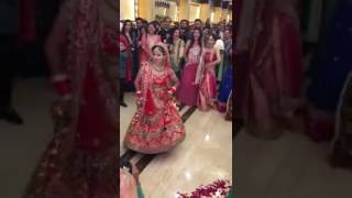 Punjabi bride dancing on her wedding in desi style