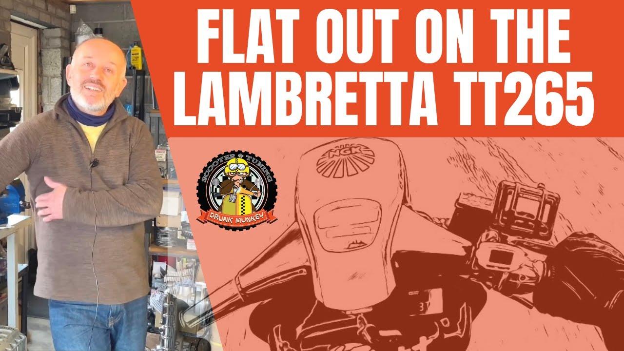 Flat out on the Lambretta TT265 - Darrell Taylor Interview & TT265cc Road Test!